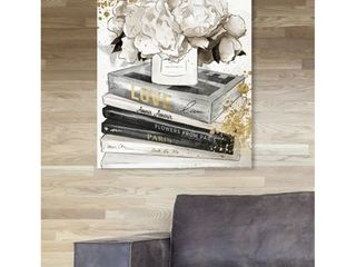Oliver Gal  life Style All Day luxe  Fashion and Glam Wall Art Canvas Print   Gold  Gray Retail 83 49