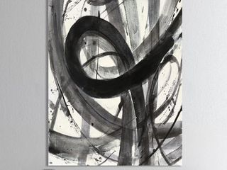 Designart  Black and White Minimalistic Painting  Modern   Transitional Premium Canvas Wall Art   Grey Retail 91 99