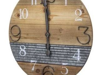 The Gray Barn Oversized Wood and Metal Farmhouse Wall Clock Retail 84 49