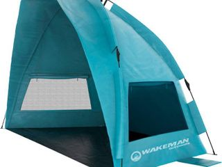 Water   Wind Resistant Pop Up Beach Tent by Wakeman Outdoors   90 x 50 x 52