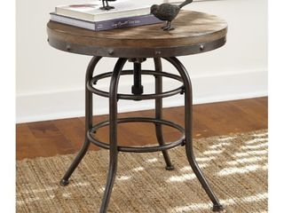 Vennilux Grayish Brown Vintage Casual Round End Table Retail 206 49