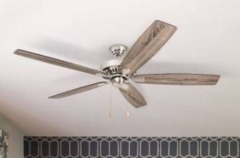 Porch   Den King Brushed Nickel 60 inch Reversible Blade Ceiling Fan w  Pull chains   60 Retail 127 99