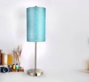 Porch   Den Rembrandt Fabric Drum Shade  Candlestick Base Table lamp with USB Port
