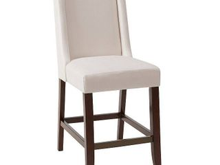 Madison Park Victor Cream Wing Counter Stool   18 w x 26 5 d x 41 5 h Retail 172 99