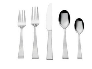TowleAr living Bree 65 piece Flatware Set  Service For 12