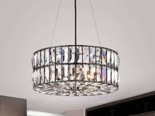 Justina 4 light Antique Black Crystal Glass Prism Chandelier Retail 168 99