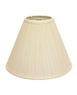 Cloth   Wire Slant Deep Cone Hardback lampshade with Washer Fitter  Egg