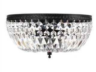 Silver Orchid Taylor 3 light Crystal Basket Flush Mount Chandelier Retail 97 99