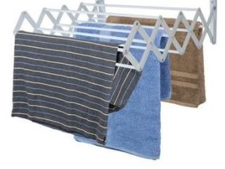 Sunbeam Wall Mounted Steel Accordion Drying Rack  Grey