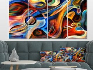 Designart  Abstract Music and Rhythm  Abstract Metal Wall Art Retail 99 99
