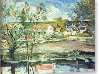 Paul Cezanne  In the Oise Valley  Gallery Wrapped Canvas Art   Blue Green