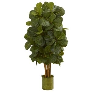 4 5  Fiddle leaf Artificial Tree in Green Tin Planter Retail 152 49