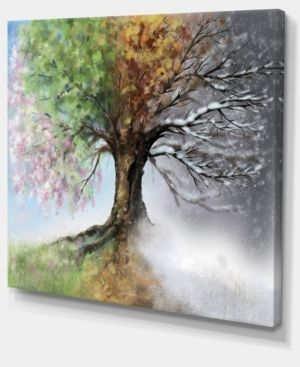 Tree with Four Seasons   Tree Painting Canvas Art Print Retail 95 99