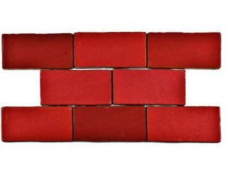 SomerTile 3x6 inch Antiguo Special Red Moon Ceramic Wall Tile  8 tiles 1 sqft