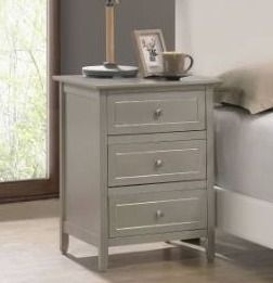 Glory Furniture Daniel 3 drawer Wooden Nightstand Retail 153 49