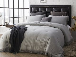 BYB Jersey Knit Oversized Comforter with Textured Edging Retail 108 49