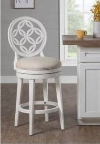 Copper Grove Cholet White Wood Swivel Bar height Stool Retail 241 99