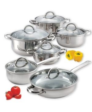 Cook N Home Stainless Steel 12 piece Cookware Set