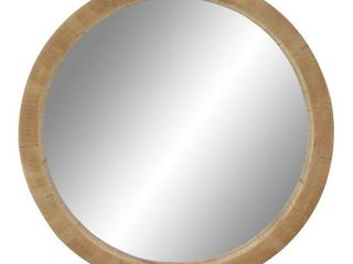 24  Round Wooden Wall Mirror   Olivia   May