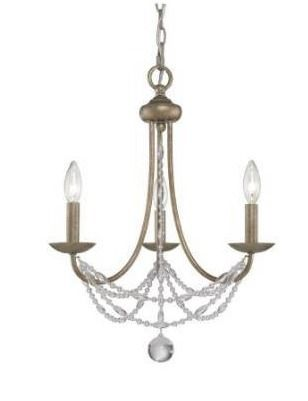 Gracewood Hollow Makhalisa 3 light Mini Crystal Chandelier Retail 138 49