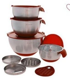 Wolfgang Puck 12 piece Stainless Steel Mixing Bowl Prep Set Model 674 470
