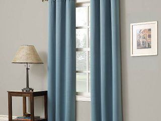 63 x40  Kenneth Energy Saving Blackout Grommet Top Curtain Panel Mineral   Sun Zero
