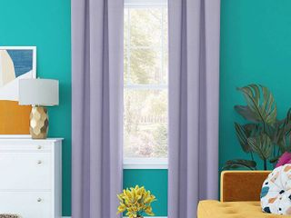 96 x40  Harper Bright Vibes Grommet Top 100  Blackout Curtain Panel Purple   Sun Zero