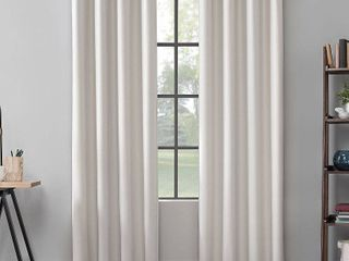 Scott living Mavis Herringbone Total Blackout Grommet Curtain Panel