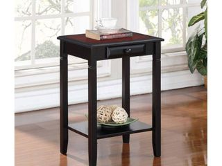 linon Newton 1 drawer Side Table   Nightstand