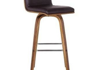 Carson Carrington Skara 26 inch Swivel Walnut Counter Barstool w  Faux leather Upholstery Retail 133 49