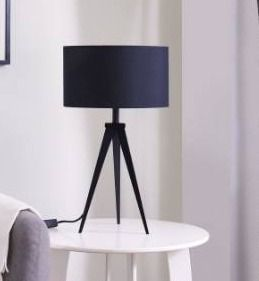 Strick   Bolton Talcott Contemporary Black Metal Table lamp