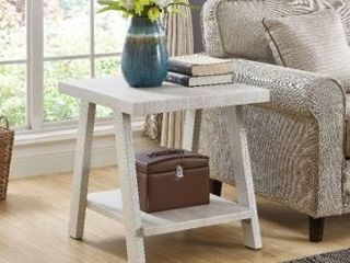The Gray barn cedar ridge contemporary replicated wood shelf end table