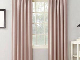 Sun Zero Grant 54  x 63  Rod Pocket Top Curtain Panel