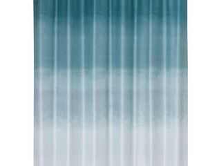 Metallic Ombre Glimmer Shower Curtain Teal   Allure Home Creations