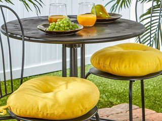Greendale Home Fashions 15  Outdoor Bistro Chair Cushion  Set of 2