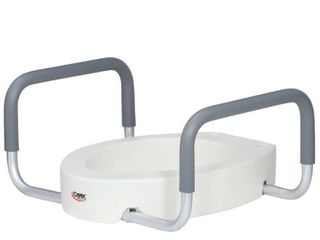 Carex Health Brands Toilet Seat Elevator with Handles for Elongated Toilets
