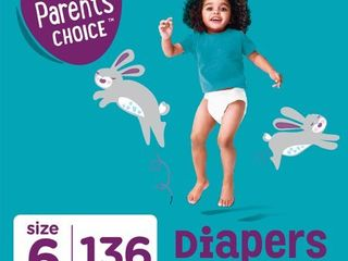 Parent s Choice Diapers  Size 6  136 Diapers