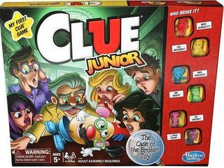 Classic Clue Junior Board Game for Kids Ages 5 and up