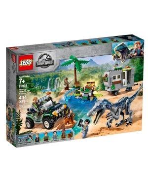 lEGO Jurassic World Baryonyx Face Off  The Treasure Hunt Toy Dinosaur Building Kit 75935
