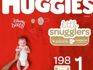 HUGGIES little Snugglers Diapers Size 1  198 Count