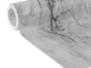 Easyliner Adhesive laminate 20 In  x 15 Ft  Shelf liner  Gray Marble