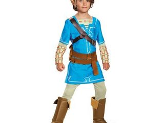 Boys  The legend of Zelda link Breath Of The Wild Deluxe Child Costume M 7 8  Multicolored