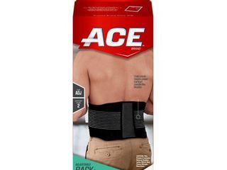ACE Brand Adjustable Back Brace  Odor Resistant  Resists Bunching