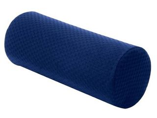 Carex Memory Foam Cervical and lumbar Pillow for lower Back and Neck Pain  Navy Blue