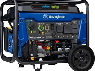 Westinghouse WGen5300DF 6 600 5 300 Watt Dual Fuel Portable Generator w  Remote Start  RV and Transfer Switch Outlet for Home Backup