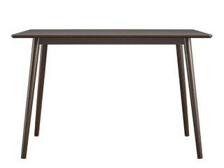 Brittany Mid Century Modern Desk Walnut   Novogratz