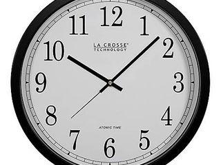 la Crosse Technology WT 3143A INT 14 Inch Atomic Wall Clock  Black
