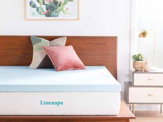 linenspa 3 Inch Gel Infused Memory Foam Full Mattress Topper