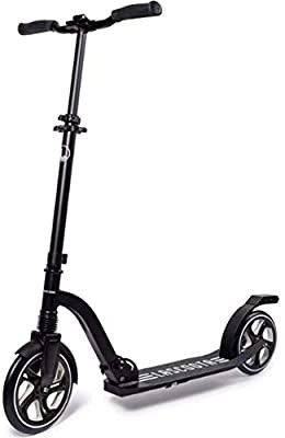 lascoota Scooters for Kids 8 Years and up   Quick Release Folding System   Dual Suspension System   Scooter Shoulder Strap 7 9  Big Wheels Great Scooters for Adults and Teens  Dark  Premium Adult