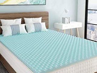 Milemont 1 5 inch Mattress Topper Egg Crate Design Gel Swirl Memory Foam Bed Topper for Pressure Relief full Size